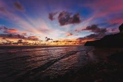 Solnedgång på hav royaltyfri foto