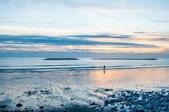 Solnedgång på havet Royaltyfri Fotografi