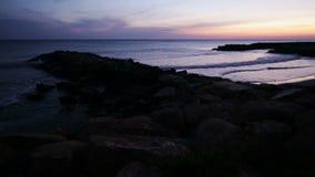Solnedgång på havet i Italien lager videofilmer