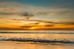 Solnedgång på havet på Phuket Royaltyfri Foto
