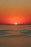 Solnedgång på havskusten Royaltyfria Foton