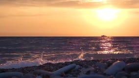 Solnedgång på havsstranden 100f 2 8 28 för kameraafton f för 301 ai velvia för sommar för nikon s för fujichrome för film lager videofilmer