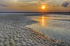 Solnedgång på Hilton Head Island arkivfoton
