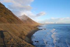 Solnedgång på Island Royaltyfri Fotografi