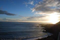 Solnedgång på Island Royaltyfri Foto