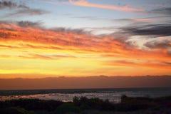 Solnedgång på Jacobs Bay Royaltyfria Foton