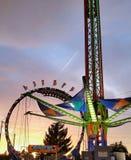 Solnedgång på karnevalet Arkivfoto