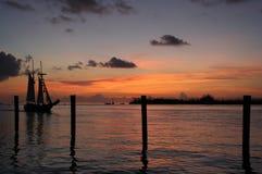 Solnedgång på Key West Arkivbilder