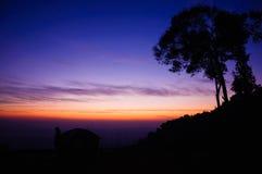 Solnedgång på Khunsathan Royaltyfri Foto