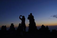 Solnedgång på Kilimanjaro Royaltyfria Bilder