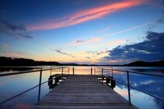 Solnedgång på Kincumber, Australien fotografering för bildbyråer