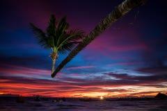 Solnedgång på Ko Tao Royaltyfria Bilder