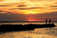Solnedgång på Koh Chang Royaltyfri Fotografi