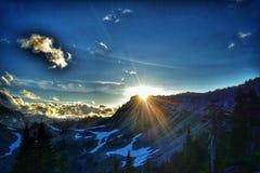 Solnedgång på konstnären Point Royaltyfri Fotografi