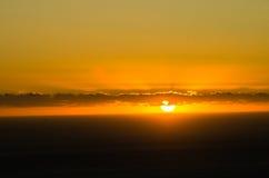 Solnedgång på läger fjärd, Sydafrika Royaltyfria Foton
