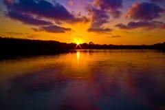Solnedgång på Lagunaen II royaltyfri fotografi
