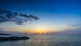 Solnedgång på Lake Erie lager videofilmer
