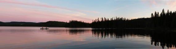 Solnedgång på laken Royaltyfri Fotografi