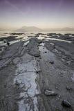 Solnedgång på laken Garda Arkivbilder