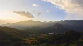 Solnedgång på landet Royaltyfria Bilder