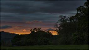 Solnedgång på Loch Lomond - Skottland Royaltyfri Fotografi