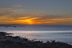 Solnedgång på Luderitz fotografering för bildbyråer