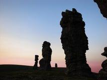 Solnedgång på Manpupuner Royaltyfri Fotografi
