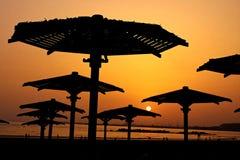 solnedgång på Marocko Royaltyfria Bilder