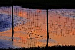 Solnedgång på Marsh Seabrook Island SC Arkivfoton