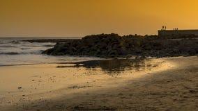 Solnedgång på maspalomas Gran Canaria Royaltyfri Fotografi