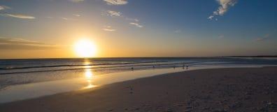 Solnedgång på Massambaba Royaltyfria Bilder