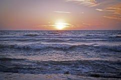 Solnedgång på medelhavet 2 Arkivbilder