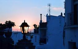 Solnedgång på Mijas, Amdalucia, Spanien Royaltyfri Fotografi