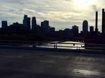 Solnedgång på Mississippi River fotografering för bildbyråer