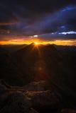 Solnedgång på monteringen Evans Royaltyfri Foto