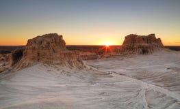 Solnedgång på Mungo Royaltyfri Bild