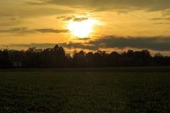 Solnedgång på munich Arkivbilder