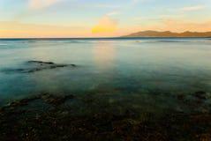 Solnedgång på Pagudpud Royaltyfri Foto