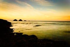 Solnedgång på Pagudpud Royaltyfri Fotografi