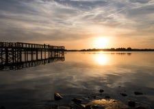 Solnedgång på parkera II Arkivfoton