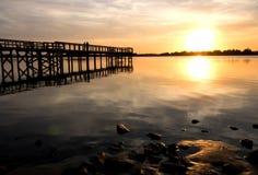 Solnedgång på parkera III Royaltyfria Foton