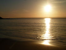 Solnedgång på Phillip Island, Victoria Arkivfoto