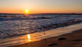 Solnedgång på portopaloen Royaltyfria Foton