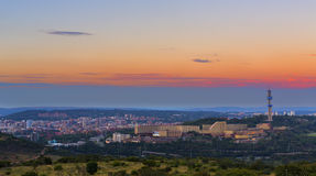 Solnedgång på Pretoria Royaltyfri Bild
