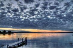 Solnedgång på rampen Royaltyfri Fotografi