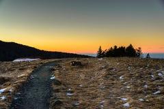 Solnedgång på Roan Mountain Royaltyfria Bilder