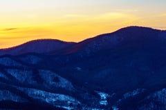 Solnedgång på Roan Mountain Arkivbilder