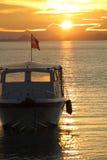 Solnedgång på Sabah Fotografering för Bildbyråer