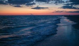 Solnedgång på siestatangenten Royaltyfri Foto