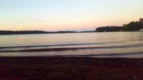 Solnedgång på sjön Jacksonville, Texas royaltyfri fotografi